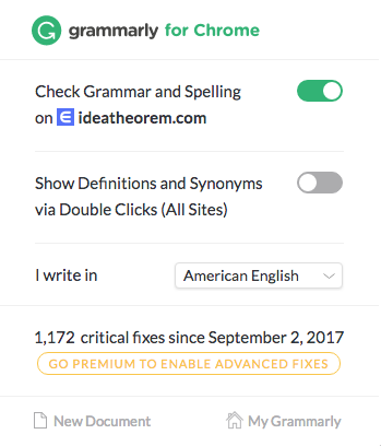 Idea Theorem Grammarly UX Analysis