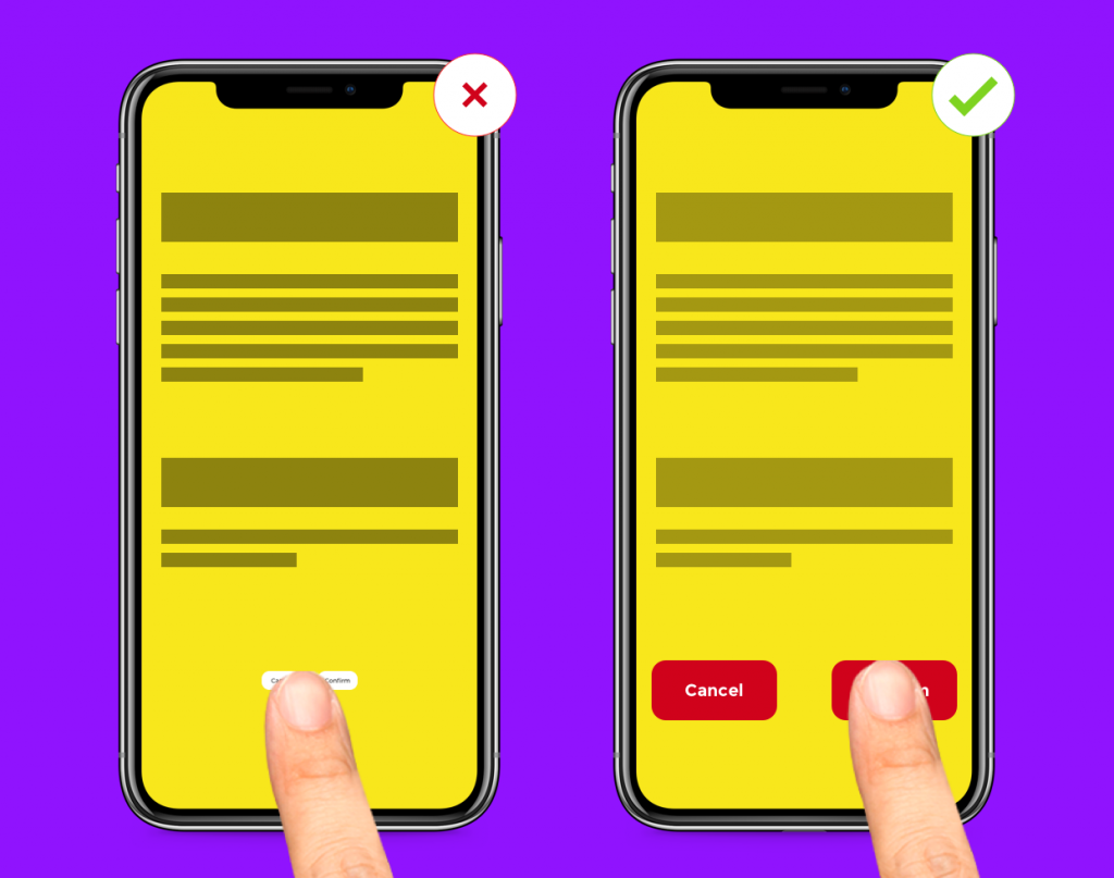 Guide to Mobile App Design - 10 Quick & Actionable UI UX Tips - Finger-friendly designs