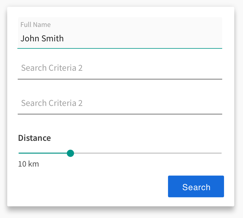 SAAS Search Filter